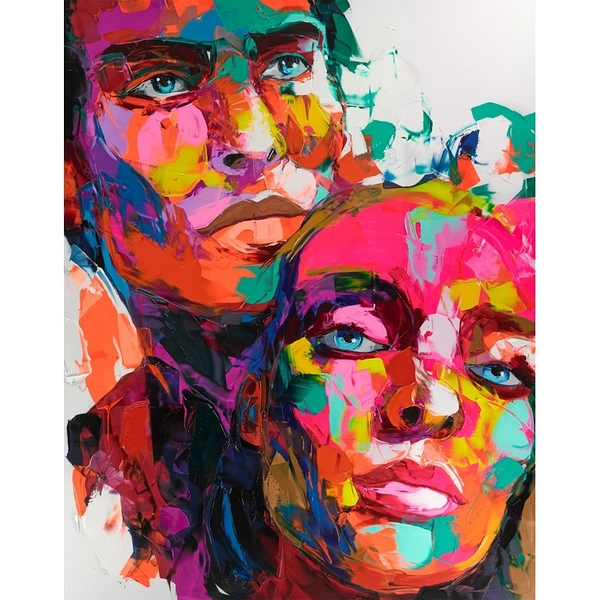Duo New York Françoise Nielly 110X140Cm