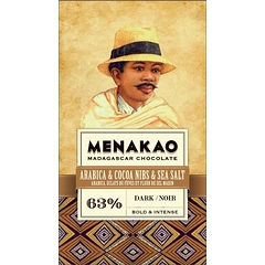 Chocolate Menakao Black 63% - Arabica Shards Of Feves Crane