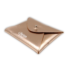 Porte Carte Enveloppe Or Rose Logo Opera