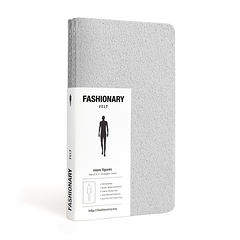 Carnets Fashionary Mini Felt Mens (Gris)