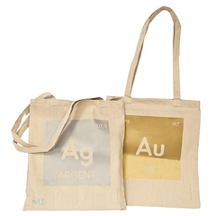 Tote bag or ou argent