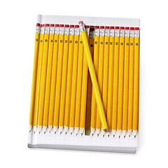 Notebook hidden Yellow pencils
