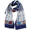 FLW Scarf, Tree of Life Blue