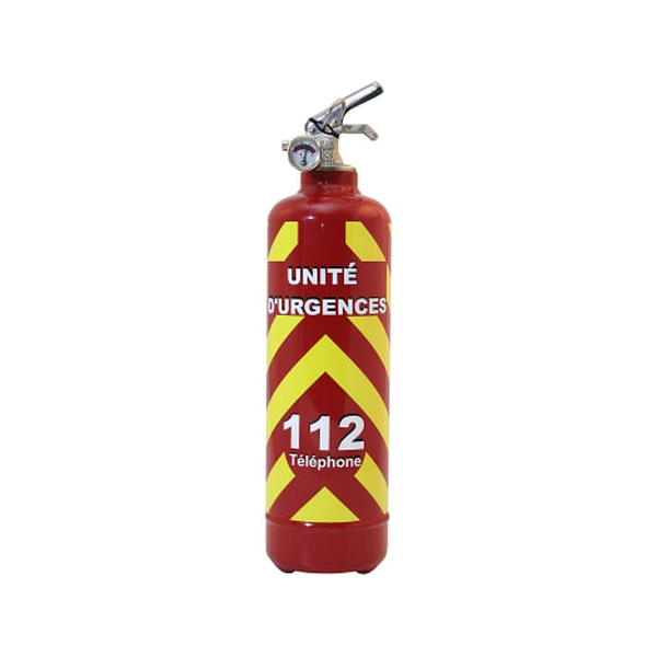 Fire extinguisher emergency 112 red